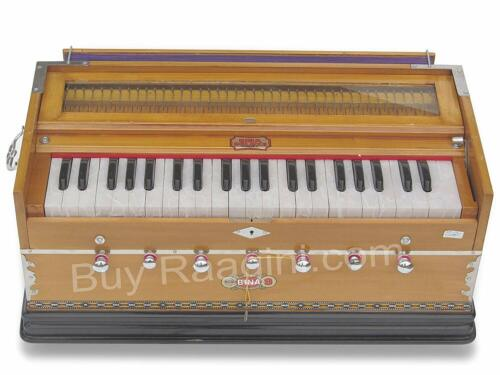 Harmonium Musical Instrument, No. 8, 7 Stops, 3 1/4 Octaves, Coupler, Tuned
