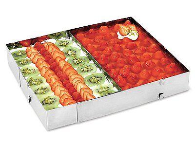 Backrahmen eckig Edelstahl Torten Ring Verstellbar Kuchen Backform 5cm Hoch