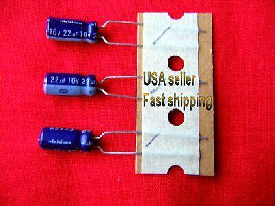 4 Pc  -  22uf 16v  Electrolytic Capacitors Free Shipping Blu