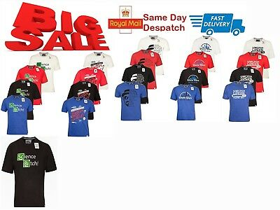 Men's T Shirt Short Sleeve T Shirts Needle Stitching & Twill Tapes Q7S UK Seller