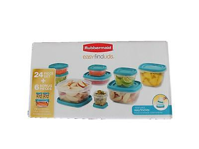 Rubbermaid Easy Find Lids 24-Piece Food Storage Container Limited Edition Blue