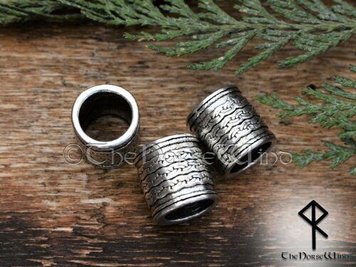 Viking Beads 2 PCS Celtic Knot Beard Ring Hair Dreadlock Dwarven Norse Medieval