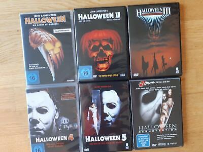 Halloween 1 + 2 + 3 + 4 + 5 ( 1-5)  + Resurrection ( 6 DVds)