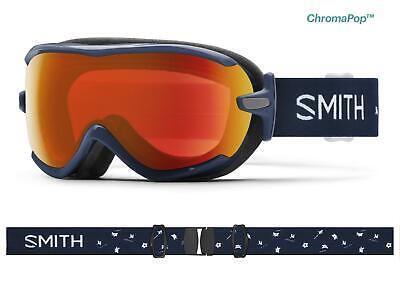 SMITH Virtue Damen Skibrille Navy Micro Floral/Chromapop Red Mirror UVP €139,99 Floral Mirror