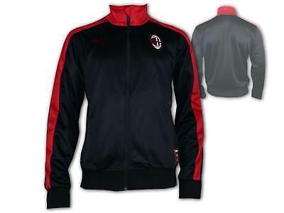 Ac Mailand Jacke (Puma AC Mailand Jacke Training Sport Freizeit Milan Tracktop schwarz Gr.S - XXL)