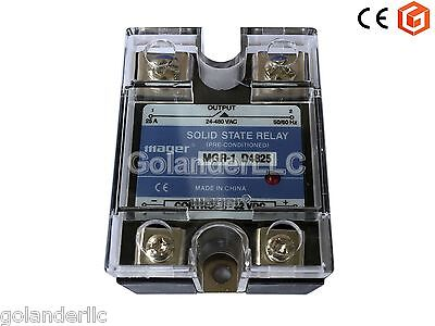 25a 3-32vdc To 24-480v Ac Solid State Relay Ssr  Clear Cover