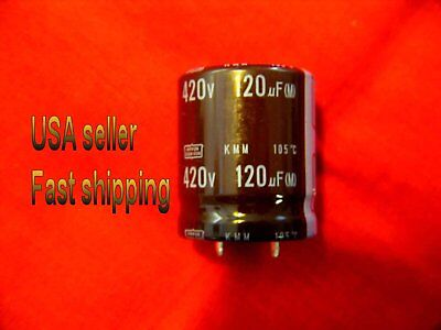 2 Pcs  -  120uf  420v  Electrolytic Capacitors Free Shipping