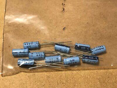 10 X 1uf 50v Rubycon Radial Miniature Aluminum Electrolytic Capacitors - New