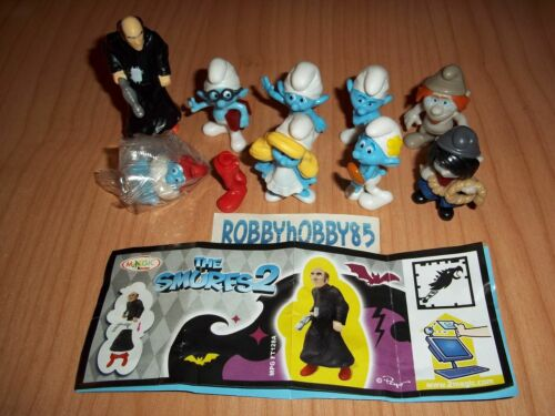 THE SMURFS 2 COMPLETE SET WITH ALL PAPERS KINDER SURPRISE 2013