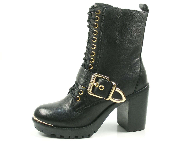 Bronx Bkirkx 33945-A-231 Schuhe Damen Ankle Boots Biker Plateau Stiefeletten