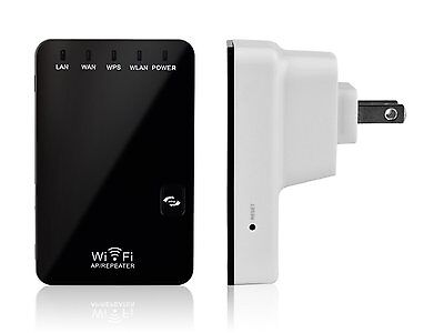- Wifi Signal Repeater Booster Wireless Cordless N G Network 300Mbps WPS Router