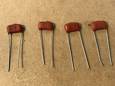 4 x .01uf 250v Metalized Film Capacitors - New