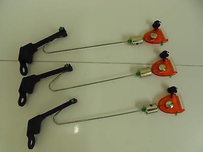 3 x Red Drop off Bite Indicators. Carp / Coarse Fishing. Slider Weight