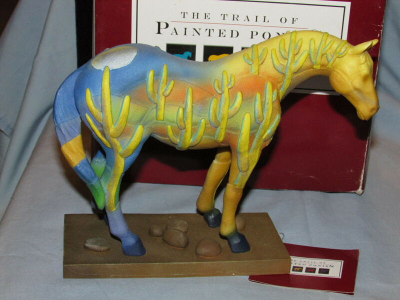 2005 Trail of Painted Ponies Saguaro Stallion 1E Retired Box and Tag EXC