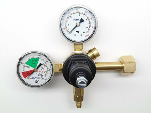 Taprite E-3741 CO2 Regulator Primary Dual Gauge 2000# 160# PSIG