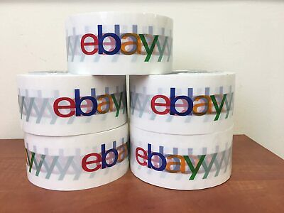 5 Rolls Official Ebay Branded Bopp Packaging Tape Shipping Supplies Multi-color
