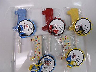 Cat And The Hat Birthday (24 Dr Seuss Cat and the Hat Thing 1 1st Birthday Party Favors with custom)