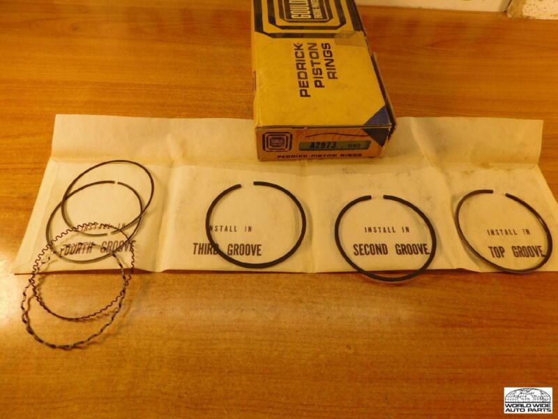"MGA & Magnette  1622cc   Piston Rings Set  +.040""  1961-1968"