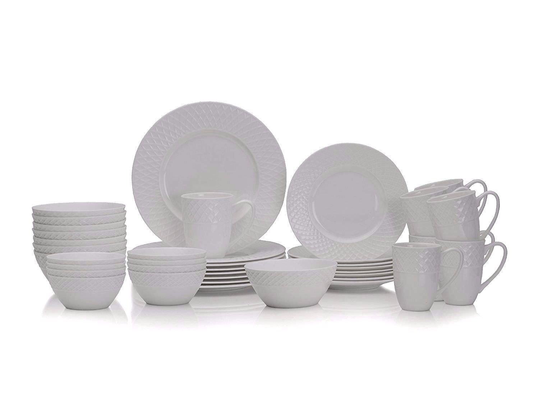 9c64c0ddfaec Mikasa Trellis 36 piece Bone China Dinnerware Set Dishwasher ...