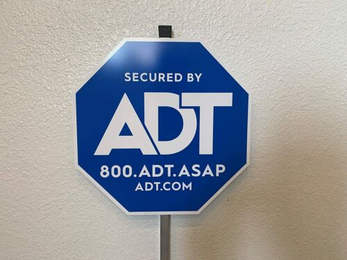 NEW ADT SECURTY YARD SIGN AND NO FREE STICKERS
