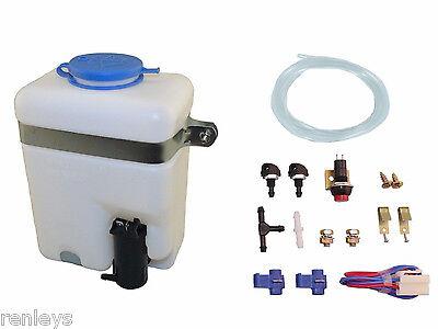 Aci Universal Windshield Wiper Systems Quality Washer Pump Kit Reservoir 99300