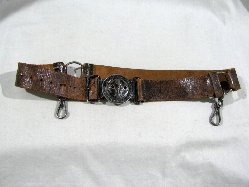 Antique 1909 BOY SCOUT BSA BELT BUCKLE & BELT