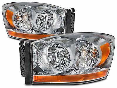 For Headlight for Dodge Ram 2006 06 1500 2500 3500 Headlight Lamp Lh + Rh