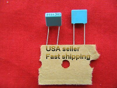 50 Pcs - .068uf 0.068uf 68nf 63v Metalized Poly Film Capacitors Free Shippng