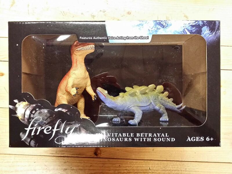 ThinkGeek Firefly Inevitable Betrayal Dinosaurs with Sound - NEW!
