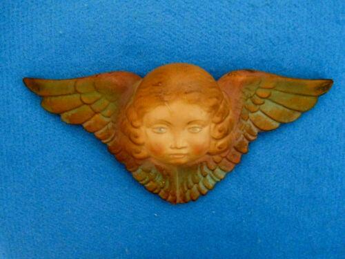 Vintage Chalkware Angel Cherub Putti Figure Wall Mount