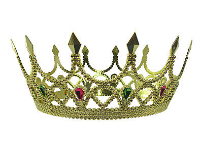 Royal Medieval Celtic Gold Queen Princess Crown with Gems Renaissance Costume](Renaissance Crown)