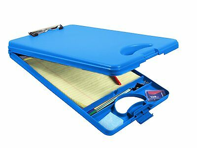 Saunders Deskmate Ii Letter Size - Blue - Storage Clipboard