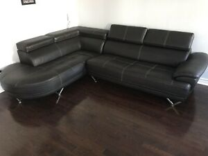 Leather Corner sofa / couch