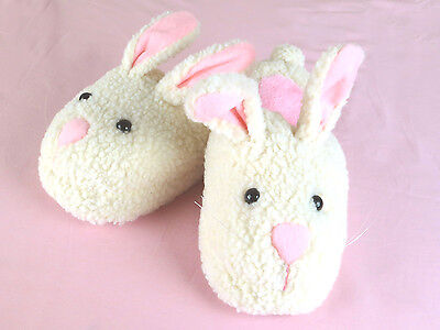 Women's Bunny Slippers - Adult Size Small - Fits Women - Bunnie Slippers