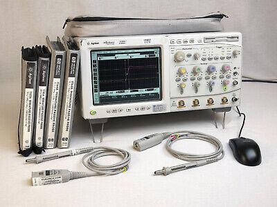 Agilent 54845a 1.5 Ghz Digital Oscilloscope W Probes Fails Cal On Ch 4