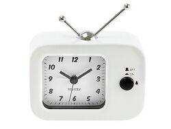 Wanted White Analog Retro TV Alarm Clock