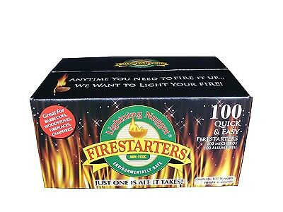 Lightning Nuggets Firestarters Fire-Starting Nuggets 100 Count Super Economy