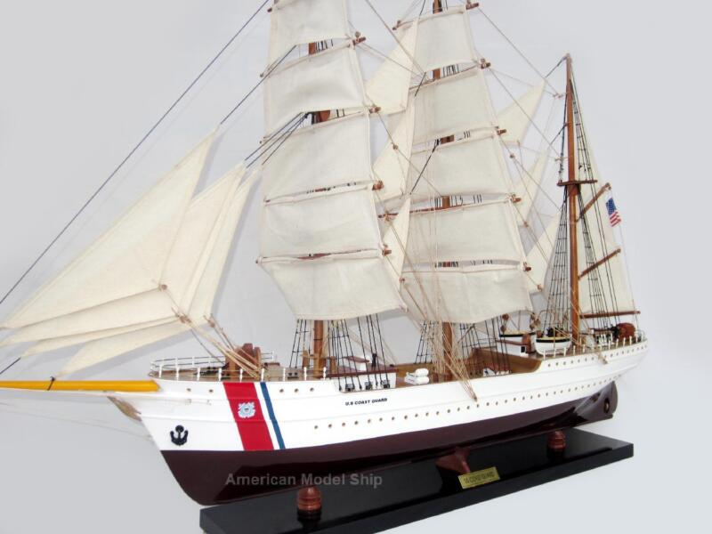 """US Coast Guard Eagle Tall Ship Assembled 29"""" - Handcrafted Wooden Model"""