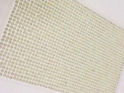 Wedding Self Adhesive Pearls - CraftbuddyUS 1500 Bulk Sheet of 3mm Self Adhesive Pearls Gems Wedding Craft Card