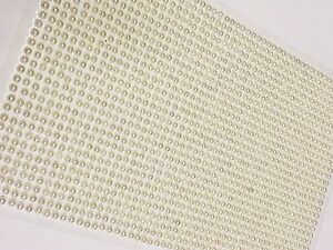1500 BULK Sheet of 3mm Self Adhesive PEARLS Stick On GEMS WEDDING CRAFT