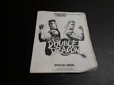 Double Dragon Video Arcade Game by Taito Operating Manual