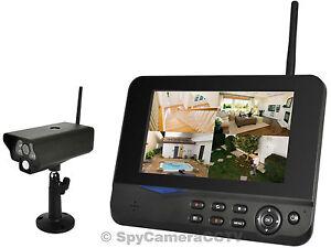 Kit camara de seguridad inalambricas lcd monitor cctv pir - Camaras de vigilancia inalambricas ...