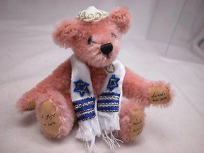 "World of Miniature Bears 3"" Mohair Bear MazelTov #989P Collectible Bear"