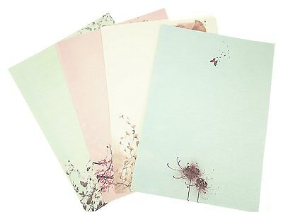 Bilipala 32 Assorted Color Cute Writing Stationery Paper, Letter Writing Paper