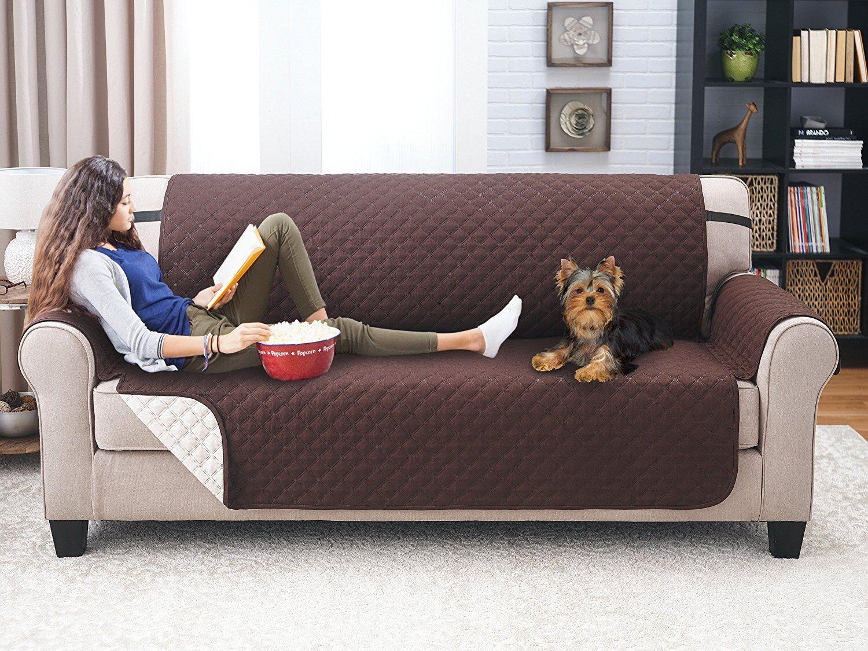 **PREMIUM**Reversible Furniture Protector Slipcover Sofa Rec