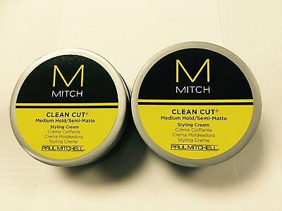 Mitch Clean Cut 3oz Puck 2pk Bundle Paul Mitchell Semi-Matte Styling Cream