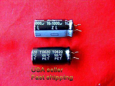 12 Pcs  -  1000uf 16v Low Esr Electrolytic Capacitors