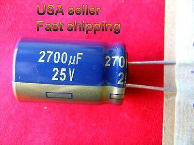 3 Pcs - 2700uf 25v Low Esr 105c Panasonic Long Life Caps Free Shipping