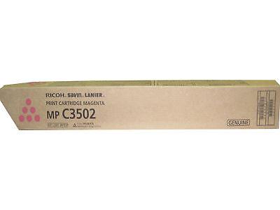 Genuine Ricoh Savin Lanier Print Cartridge Magenta Mp C3502 841737 841649 370g