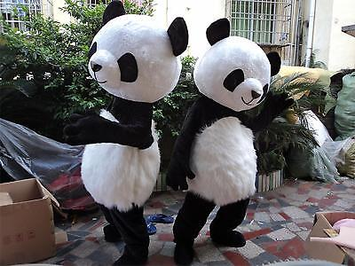 Halloween Panda Bear Mascot Costume Fancy Dress Party Dress Adults (Panda Bear Halloween Kostüm)
